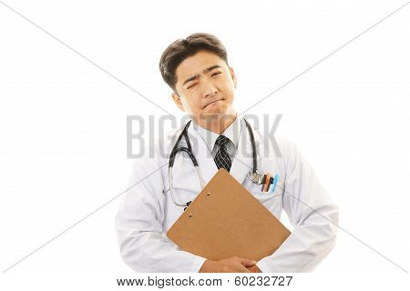 Tired medical doctor