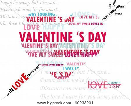 Background concept wordcloud illustration of love for valentine