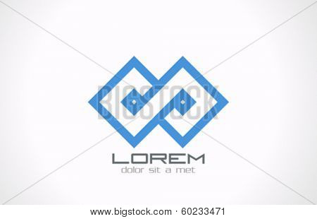 Infinity loop abstract vector logo design template. Business Fashion infinite looped icon