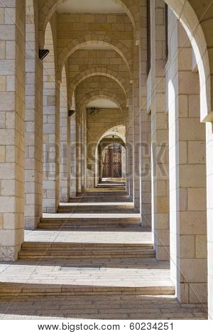 Colonnade In Jerusalem.