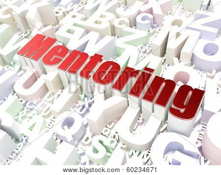 Education concept: Mentoring on alphabet background