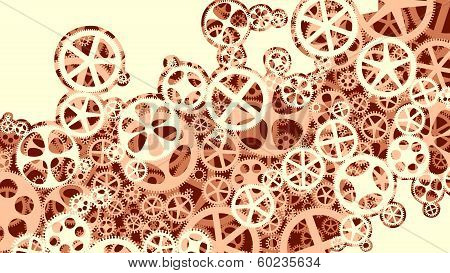 Vector Illustration Of Gear Wheels.