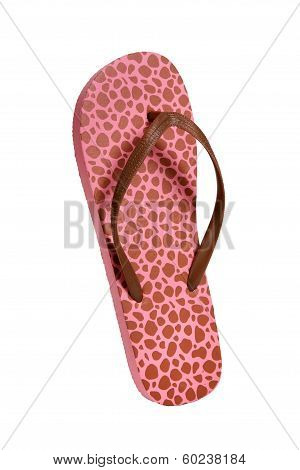 Beach flip flops - Brown-pink leopard