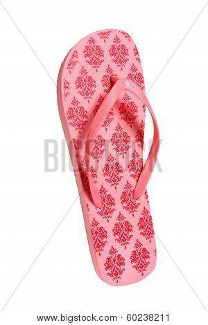 Beach flip flops - Pink pattern