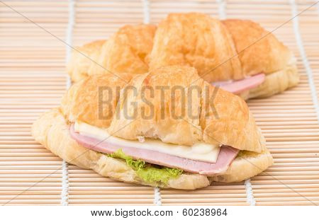 Croissant Stuffed With Ham Cheese