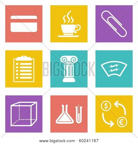 Icons for Web Design and Mobile Applications set 6