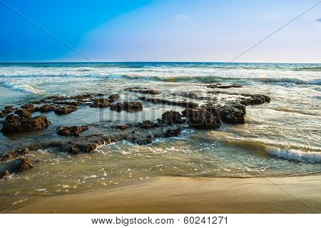 Landscape Of The Coast Of Varkala. India, Kerala