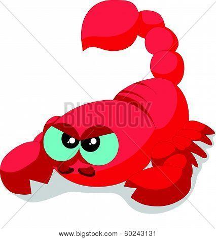 Cute scorpion cartoon