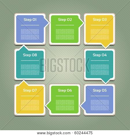 Vector Progress Background. Product Choice or Version. eps 10