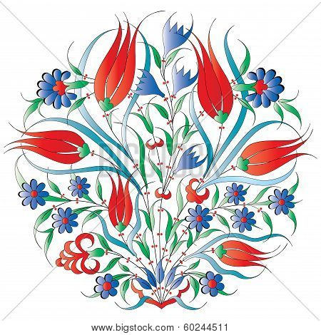 Oriental Ottoman Design Isolated