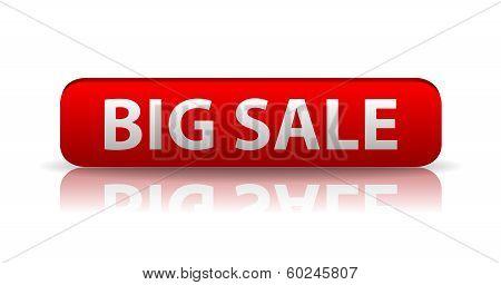 3D Red Web Button Big Sale