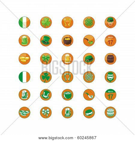 Saint Patrick Day Icons Pack