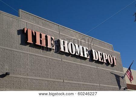 JACKSONVILLE, FL-FEBRUARY 16, 2014: A Home Depot store in Jacksonville. The Home Depot is the largest home improvement retailer in the United States, ahead of rival Lowe's.