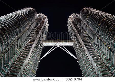 Petronas Twin Towers at Kuala Lumpur.