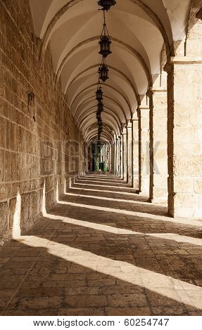 Corridor On Temple Mount