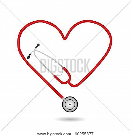 Stethoscope, Vector Illustration