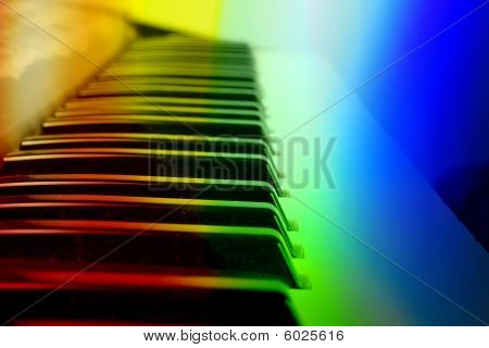 Colorful Keyboard Background
