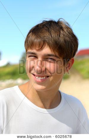 cheerful teenager