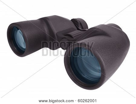 Marine Binoculars On A White Background