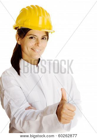 Female Worker Approving Work