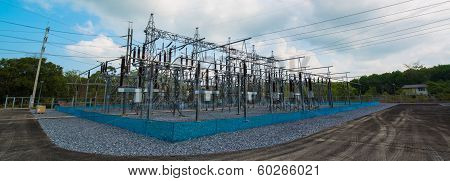 Power station for making electric energy