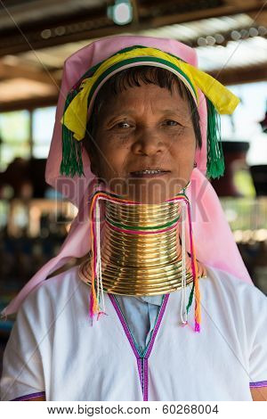 Long-necked Kayan Lahwi Woman