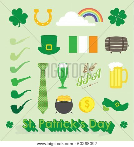 Vector Set: St Patricks Day Icons and Symbols