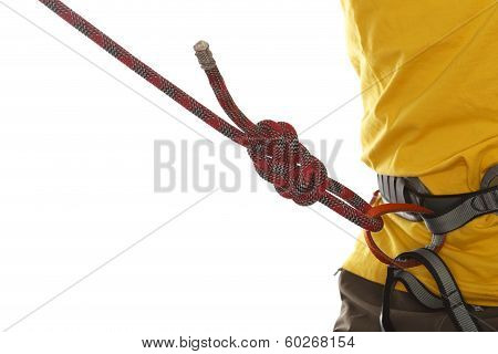 yellow shirt and rope knot