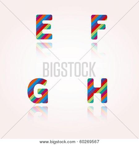 Color Alphabet Letters