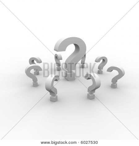 3D question marks