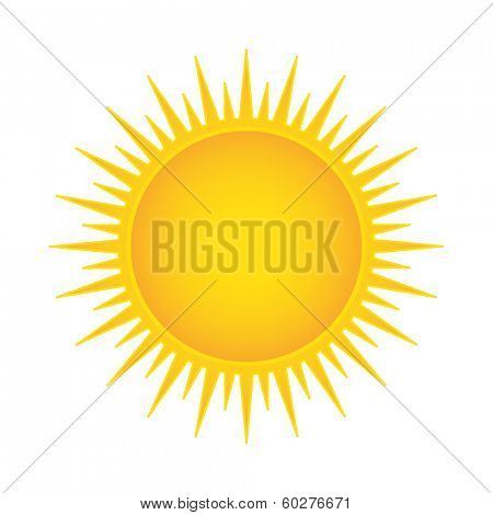 Sun vector illustration isolated
