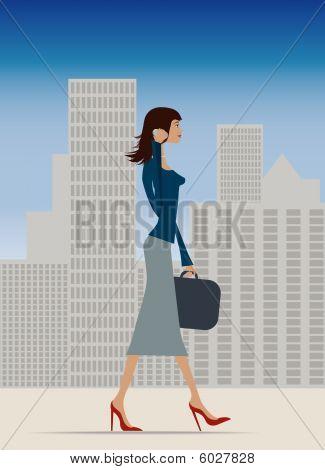 Business Woman City