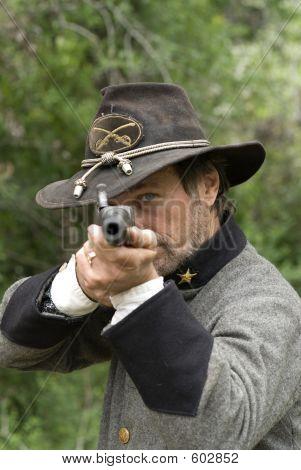 Civil War Reenactment Sniper, Gun