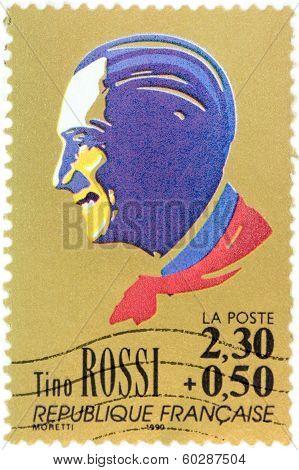 Tino Rossi Stamp