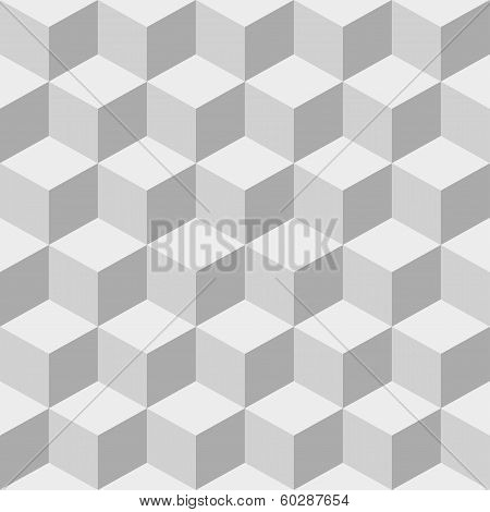 Cubes seamless background.