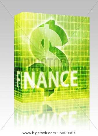 Finance Illustration Box Package