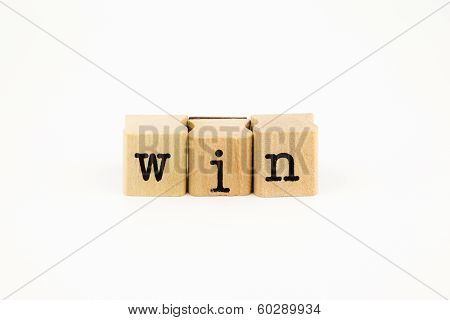 Win Wording Isolate On White Background
