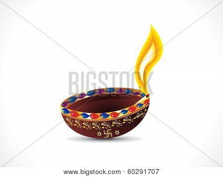 Abstract Diwali Background With Deepak