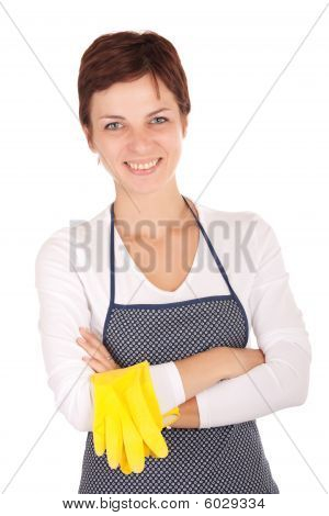 Cleaning Woman Portrait