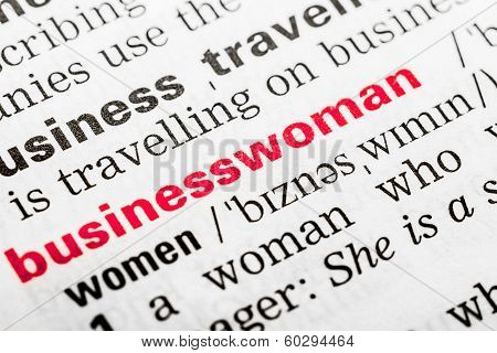 Businesswoman Word Definition