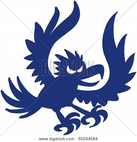 Blue eagle attacking