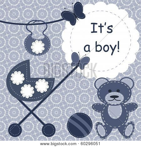 greeting card for newborn boy