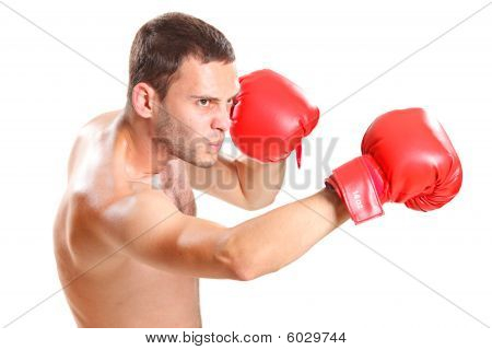 Boxer in action