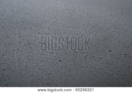 Drops Of Water On A Dark Background