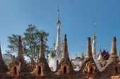 Ruins Of Ancient Burmese Buddhist Pagodas