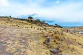 picture of urn funeral  - Funerary towers in Sillustani PeruSouth America - JPG