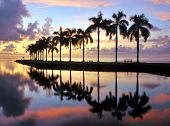 stock photo of florida-orange  - Sunrise at Cutler Bay near Miami - JPG