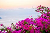 pic of cupola  - Oia Santorini Greece famous with romantic and beautiful sunsets - JPG