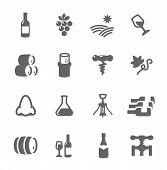 image of wine-press  - Simple set of Wine related vector icons for your design or application - JPG