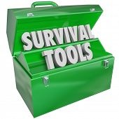image of survival  - Survival Tools Green Toolbox Learn Skills Tips Survive - JPG